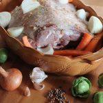 Wild boar roast preparation